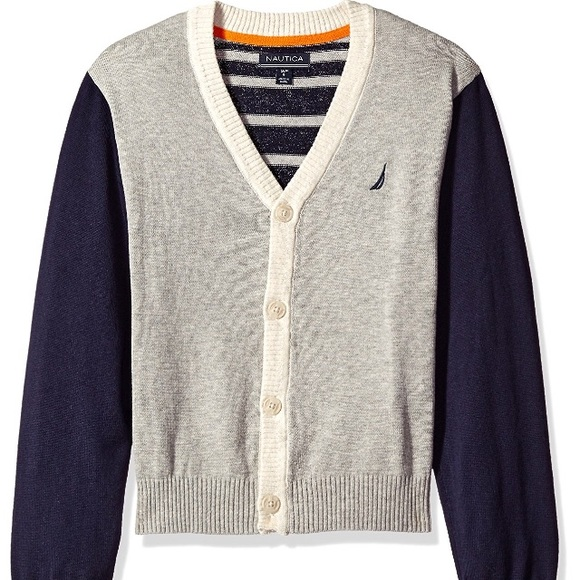 Nautica Boys Stripe Cardigan Sweater